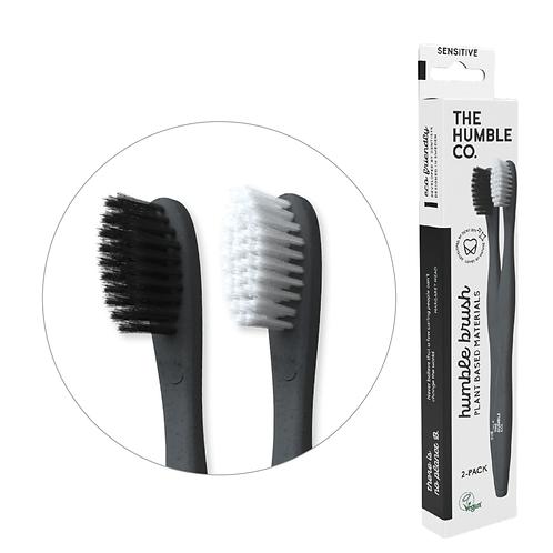 Humble Cornstarch Toothbrush - Οδοντόβουρτσα Με Λαβή Από Άμυλο Καλαμποκιού Σετ 2