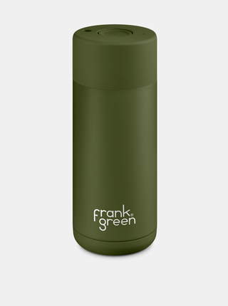 Frank Green Ceramic Thermos Cup Khaki - Κεραμικό Ποτήρι Θερμός 475ml