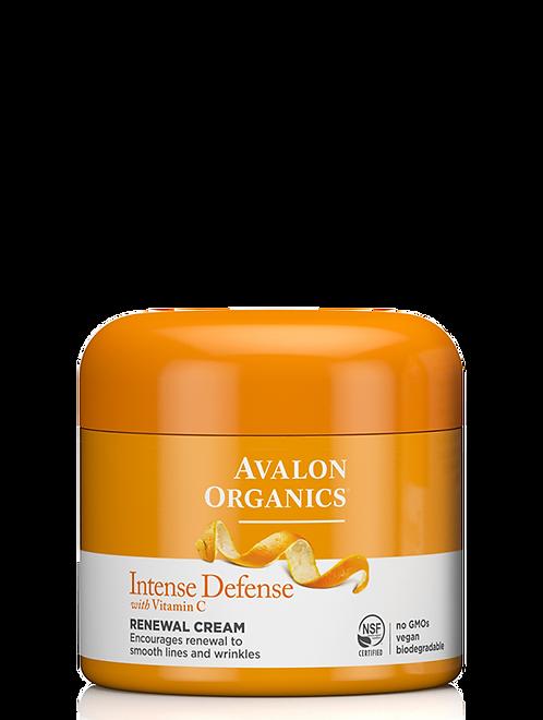 Avalon Organics Intense Defense Renewal Cream - Κρέμα Ανανέωσης