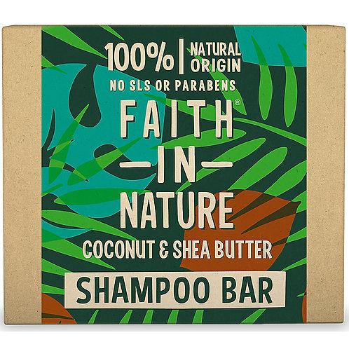 Faith in Nature Shampoo Bar Coconut & Shea Butter - Στερεό Σαμπουάν