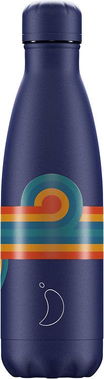 Μπουκάλι Θερμός Chilly's - Retro Stripe Blue Swirl 500ml