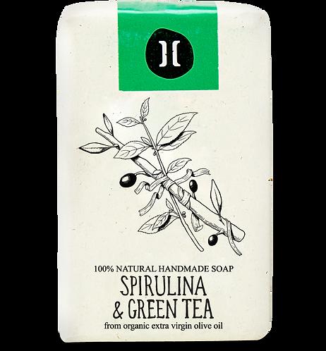 Helleo Spirulina & Green Tea Soap - Σαπούνι Σπιρουλίνα & Πράσινο Τσάι
