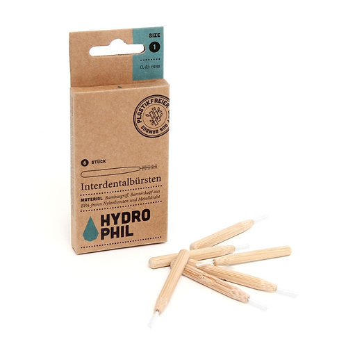 Hydrophil Sustainable Bamboo Interdental Brush - 6 Μεσοδόντια Βουρτσάκια