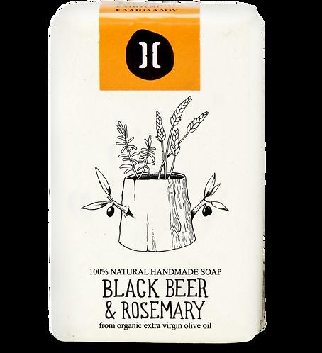 Helleo Black Beer & Rosemary Soap - Σαπούνι Μαύρη Μπύρα & Δεντρολίβανο