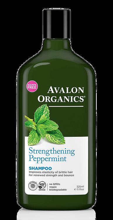 Avalon Organics Strengthening Peppermint Shampoo - Για Εύθραυστα & Λεπτά Μαλλιά