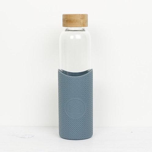 Glass Water Bottle Blue - Twist & Shout - Γυάλινο Μπουκάλι Ροφημάτων