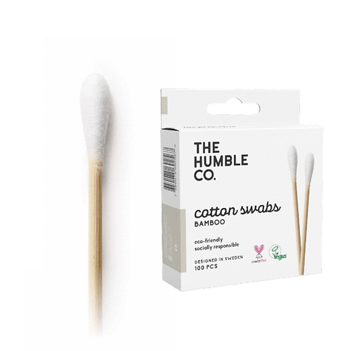 Humble Cotton Swabs White-Μπατονέτες Από Βιοδιασπώμενο Μπαμπού&Βιολογικό Βαμβάκι