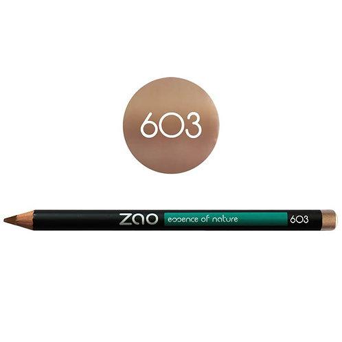 Zao Pencil Eyes, Lips, Eyebrows 603 - Βιολογικό Μολύβι Ματιών, Χειλιών & Φρυδιών