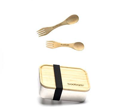 Boobam Stainless Steel Lunch Box - Φαγητοδοχείο Από Ανοξείδωτο Ατσάλι