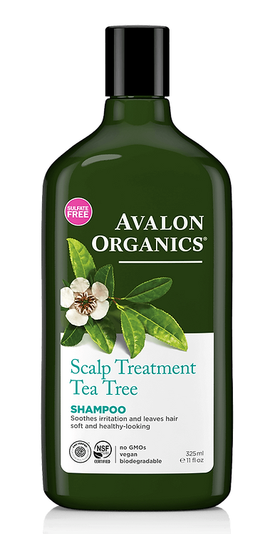 Avalon Organics Scalp Treatment Tea Tree Shampoo - Σαμπουάν Κατά Της Ξηροδερμίας