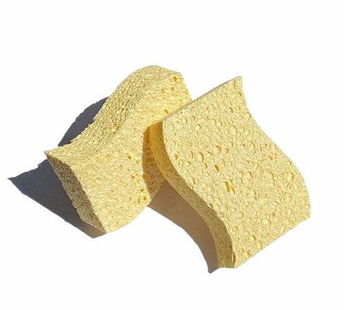 Biodegradable Kitchen Sponges - Οικολογικό Σφουγγάρι Κουζίνας / Μπάνιου Σετ 2