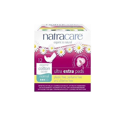 Natracare Ultra Extra Pads Normal 12 τμχ