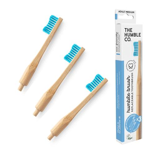 Humble Brush Adult Soft Blue - Οδοντόβουρτσα Bamboo Ενηλίκων 1 Λαβή + 3 Κεφαλές