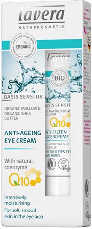 Lavera Basis Sensitiv Q10 Eye Cream - Aντιγηραντική Kρέμα Mατιών