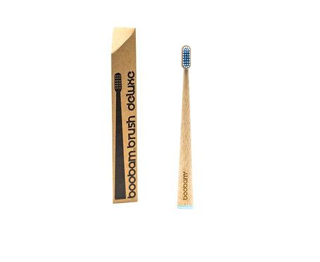 Οδοντόβουρτσα Μπαμπού Boobam Bamboo Toothbrush Deluxe - Blue Medium