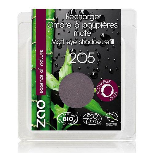 ZAO Eyeshadow Matt - Βιολογική Σκιά 205 Dark Purple Refill