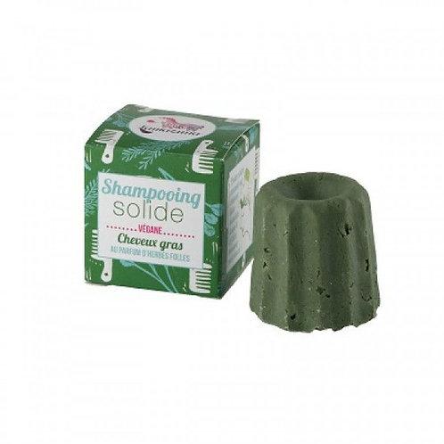 Lamazuna Solid Shampoo Herbs - Στερεό Σαμπουάν 100% Φυσικό, Βιολογικό / Λιπαρά