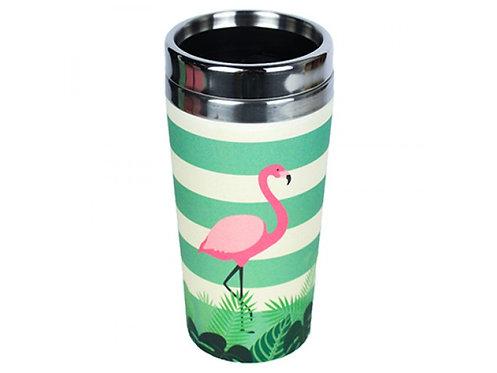 Eco Bamboo Cup Θερμός - Flamingo