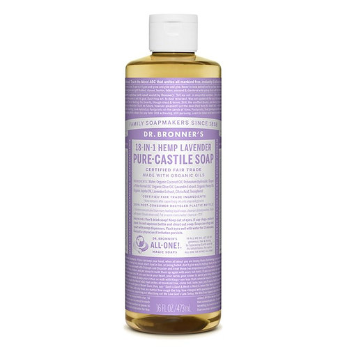 Dr. Bronner's Pure Castile Liquid Soap Lavender - Αγνό Υγρό Σαπούνι Καστίλης