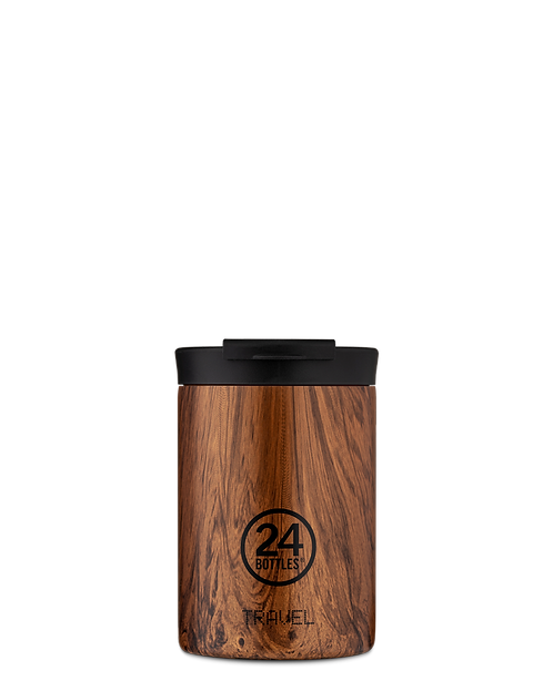 24 Bottles Travel Tumbler Sequoia Wood - Ποτήρι Θερμός 350ml