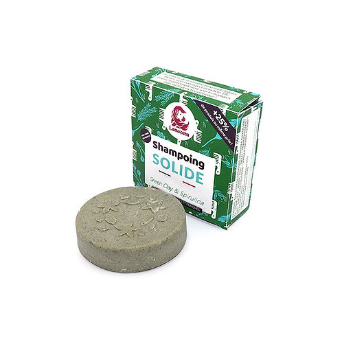 Lamazuna Solid Shampoo Green Clay & Spirulina New - Στερεό Σαμπουάν 100% Φυσικό