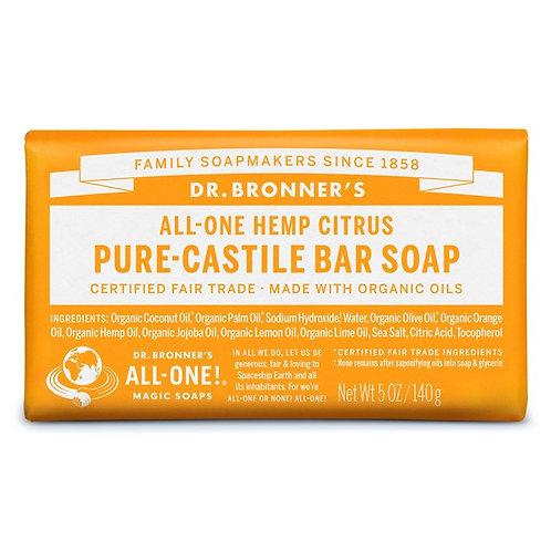 Dr. Bronner's Pure Castile Bar Soap Citrus - Αγνό Σαπούνι Καστίλης Σε Μπάρα