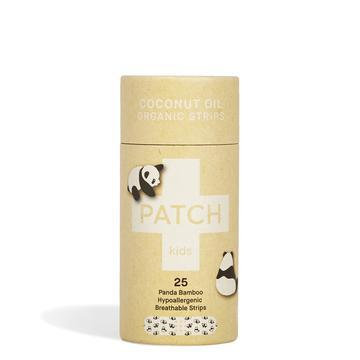 Panda Bamboo Patch Adhesive Strips Tube Of 25 - Coconut Oil For Kids