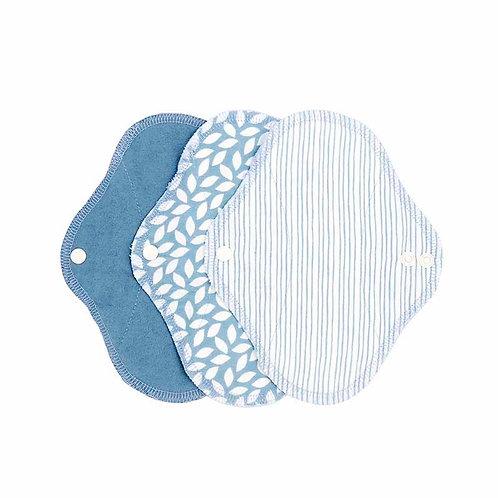 Υφασμάτινα Σερβιέτακια Από Βιολογικό Βαμβάκι - SET 3 Panty Liner Denim