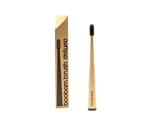 Οδοντόβουρτσα Μπαμπού Boobam Bamboo Toothbrush Deluxe - Black Soft