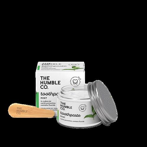 The Humble Co. Toothpaste Fresh Mint - Οδοντόκρεμα Μέντα Σε Γυάλινο Βάζο