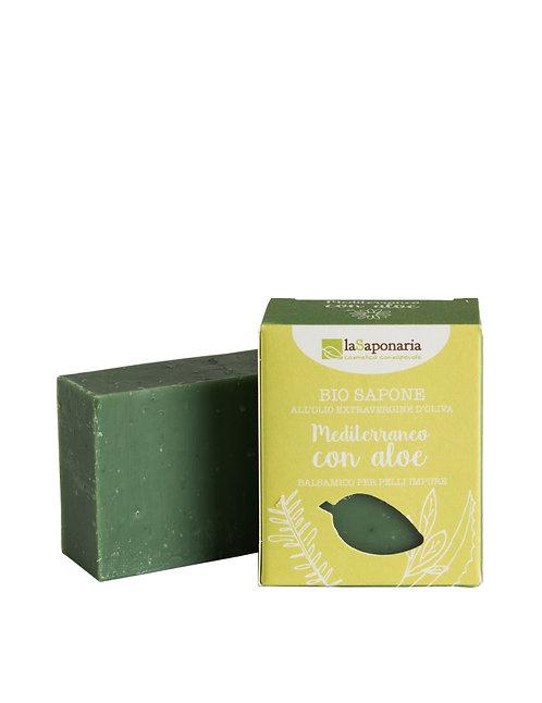 La Saponaria Soap Mediterranean With Aloe - Σαπούνι Μεσογειακό Με Αλόη