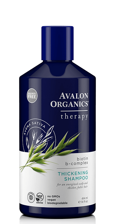 Avalon Organics Biotin B-Complex - Θεραπευτικό Σαμπουάν Με Βιοτίνη & Κινόα