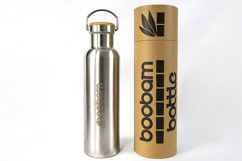 Boobam Bottle SIlver - Μπουκάλι Θερμός 600ml