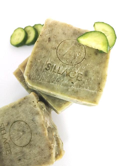 Sillage Soap - Χειροποίητο Σαπούνι Με Αγγούρι & Μέντα