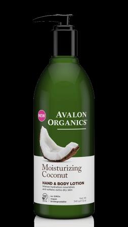 Avalon Organics Hand & Body Lotion Coconut - Γαλάκτωμα Σώματος & Χεριών Καρύδα