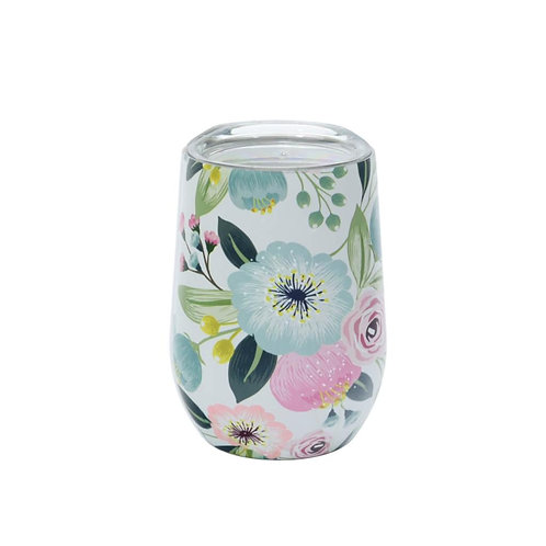 Chic Mic Stainless Steel Thermos Cup - Pastel Flowers   400ML