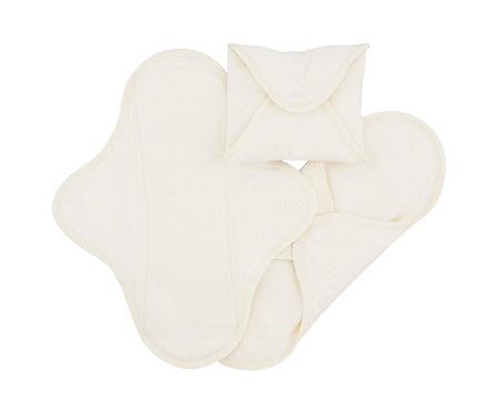 Υφασμάτινη Σερβιέτα Πολλαπλών Χρήσεων - SET 3 Regular/Day White