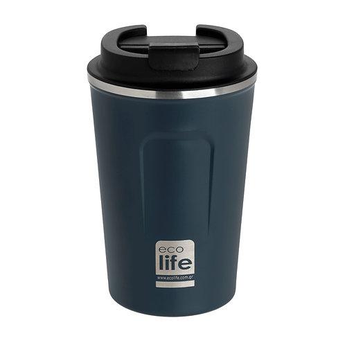 Εcolife Coffee Thermos 370 ml - Dark Blue