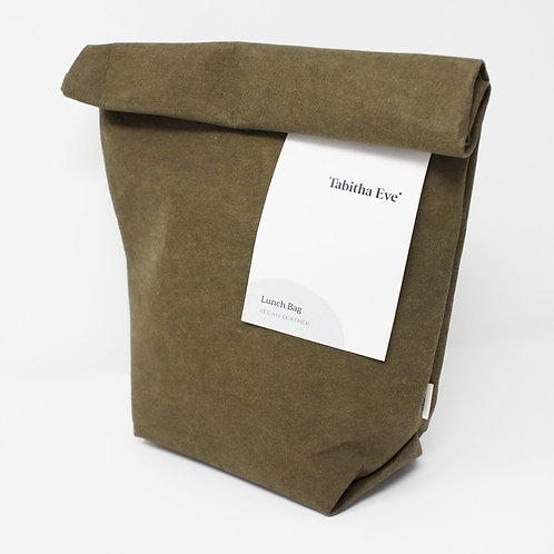 Vleather Lunch Bag Bark - Χειροποίητη Τσάντα Φαγητού Από Πλενόμενο Χαρτ