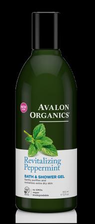 Avalon Organics Shower Gel Peppermint - Αφρόλουτρο Με Μέντα