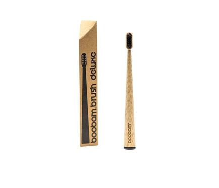 Οδοντόβουρτσα Μπαμπού Boobam Bamboo Toothbrush Deluxe - Black Medium