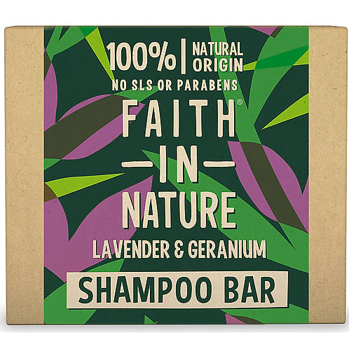 Faith in Nature Shampoo Bar Lavender & Geranium - Στερεό Σαμπουάν