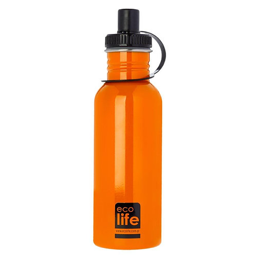 Ecolife Ανοξείδωτο Μπουκάλι 600ml - Orange