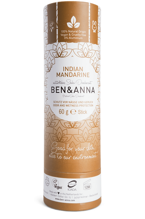 Ben & Anna Deo Stick / Στερεό Αποσμητικό Σε Χάρτινη Συσκευασία-Indian Mandarine