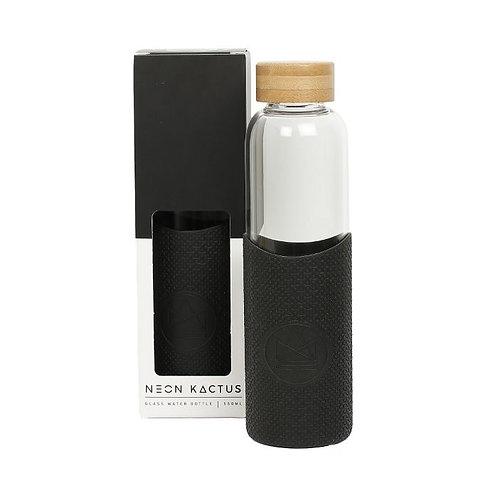 Glass Water Bottle Black - Rock Star - Γυάλινο Μπουκάλι Ροφημάτων