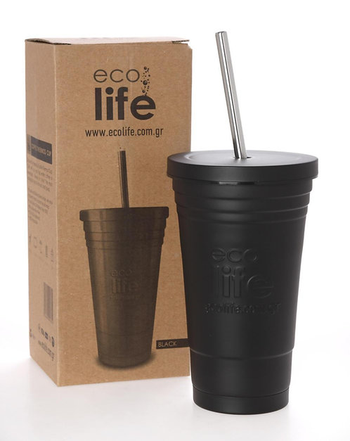 Ecolife Thermos Cup 480ml - Black