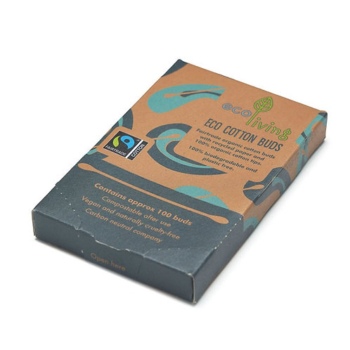 Organic Fairtrade Cotton Buds - Μπατονέτες Από Βιολογικό Βαμβάκι Fairtrade