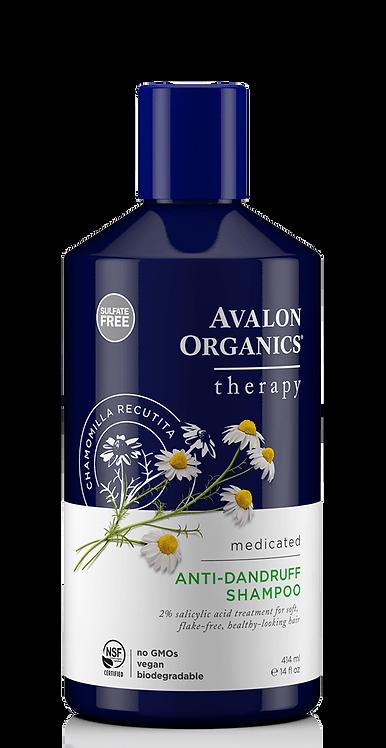 Avalon Organics AntiDandruff Medicated - Θεραπευτικό Σαμπουάν Κατά Της Πυτιρίδας