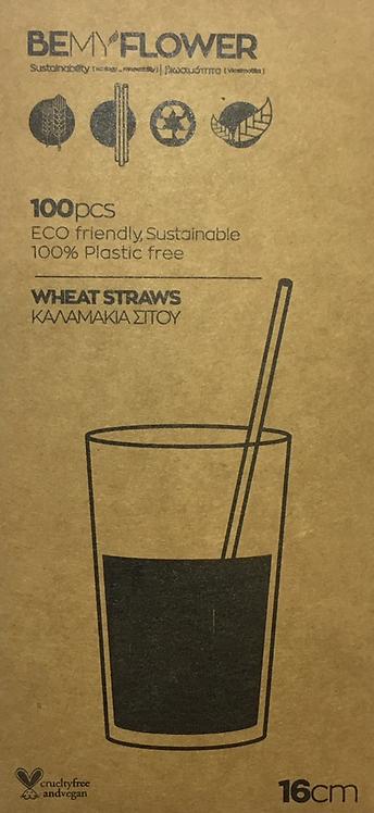 Be My Flower Wheat Drinking Straws - Set 100 Καλαμάκια Μιας Χρήσης 16cm