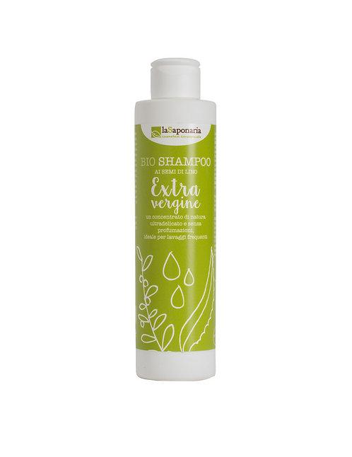 La Saponaria Extra Virgin Olive Oil Shampoo - Οργανικό Σαμπουάν Με Λιναρόσπορο